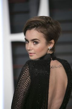 Lily Collins' cute new short haircut