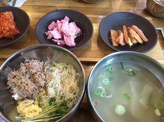 2016.1.26 점심. 북어국과 비빔밥