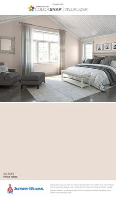 I found this color with ColorSnap® Visualizer for iPhone by Sherwin-Williams: Polite White (SW 6056).