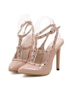 light nude heels with studs