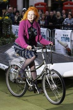 Ride your Bike in Tights and Heels. #doitlikevivienne