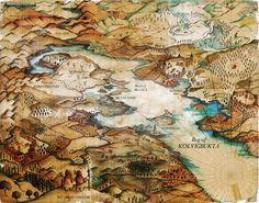 Beautiful map by Abigail Daker.