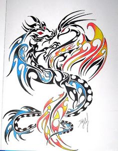 Dragon and Phoenix Symbol | Phoenix and dragon tattoo
