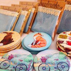 #Packaging up #pocket #mirrors for wholesale orders... Ceridwen Hazelchild Design