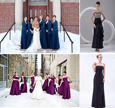 heavier material bridesmaid dresses uk for winter wedding