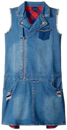 Tommy Hilfiger Denim Moto Dress (Big Kids)