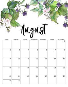 2020 Free Printable Calendar – Floral – Paper Trail Design – Office organization at work Cute Calendar, Blank Calendar, Printable Calendar Template, Print Calendar, Calendar Pages, 2021 Calendar, Work Calendar, New Year Calendar, December Calendar