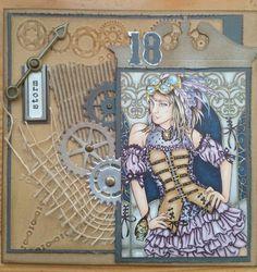 Steampunk girl Scrapbook Cards, Scrapbooking, Art Blog, Steampunk, Princess Zelda, Fictional Characters, Scrapbooks, Steam Punk, Notebooks