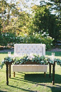 romantic wedding sweetheart table