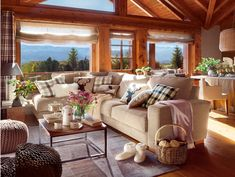 The house has a really homely atmosphere. This house was built in but there is feeling that time has stood still here. Cabin Homes, Log Homes, Home Deco, Wooden House, Design Case, House In The Woods, Cozy House, Great Rooms, My Dream Home
