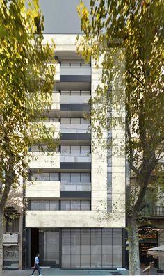 Vestíbulo del nuevo hotel 4* en Barcelona de Laboratorio de Arquitectura.