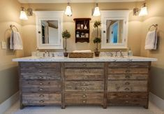 Want to create a rustic bathroom? Use Ideal Home Garden to guide you on how to design and decorate a rustic lodge bathroom. Bathroom Vanity Units, Rustic Bathroom Vanities, Rustic Bathroom Decor, Rustic Bathrooms, Bathroom Ideas, Rustic Vanity, Wood Bathroom, Bathroom Lighting, Dresser Vanity