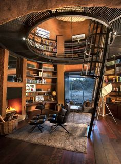 Loft In House . Loft In House . Pin by andrew Christian On House In 2020 Dream Home Design, My Dream Home, Home Interior Design, Industrial Interior Design, Industrial Interiors, Wood Interiors, Modern House Design, Home Libraries, Loft Design