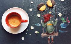 Wenn ihr morgens aus dem Bett fallt, braucht ihr sicherlich erstmal einen Kaffee, um in den Tag zu starten. Genauso läuft das auch bei der italienischen IllustratorinCinzia Bolognesi. Wenn sie allerdings ihren Wachmacher zu sich nimmt, entschwindet sie im
