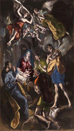 Adoracion de los Reyes magos1 - The Adoration of the Shepherds (El Greco) - Wikipedia