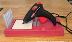 Hot Glue Gun Stand | Creative Lady of the House