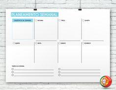 Sabes o que falta para conseguires melhores resultados? Tens que melhorar a tua organização diária! Faz o download deste modelo, imprime-o e regista tudo o que vais fazer esta semana. #emprego30dias | www.noctulastore.com