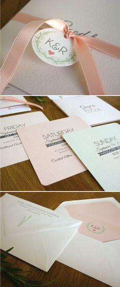 Einladungskarte Rosmarin