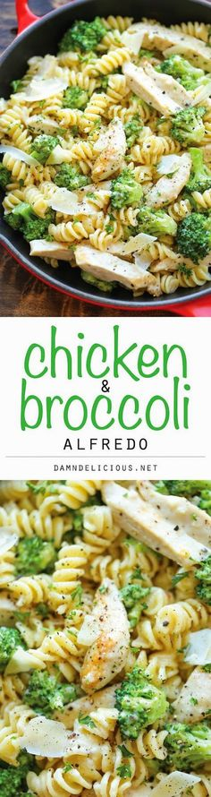 Easy chicken and broccoli alfredo pasta recipe for the entire family.  #alfredo #chickenalfredo #pasta #alfredodinner #kidfriendlymeals  http://www.edconfetti.blogspot.com/2015/01/meal-plan-monday-12615.html#.VMbskGR4rzE