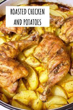 Easy Chicken And Potato Recipe, Roasted Chicken And Potatoes, Easy Baked Chicken, Easy Chicken Curry, Fried Chicken Recipes, Chicken Thigh Recipes, Meat Recipes, Crockpot Recipes, Healthy Recipes