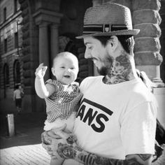 vans, tattoos and the baby!
