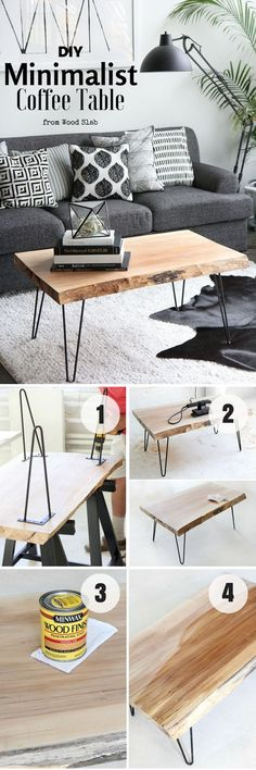 DIY Minimalist Coffee Table