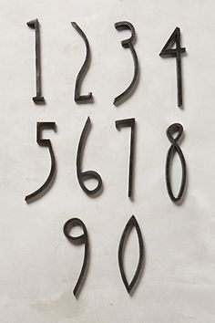 Hand-Welded House Number  An idea for when I take that blacksmithing class.