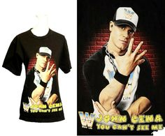John Cena you cant see me W Word Life Wrestling Bai Bon Oil Painting T shirt WWE You Can't See Me, John Cena, Wwe, Wrestling, Baseball Cards, Drawing, Sports, T Shirt, Painting