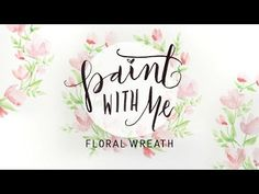PAINT WITH ME: Floral Wreath Watercolor Tutorial (Beginner Painting) forest tutorial tutorial tutorial for beginners watercolour tutorial Watercolor Flower Wreath, Easy Flower Painting, Watercolor Flowers Tutorial, Watercolour Tutorials, Watercolor Rose, Watercolor Painting, Watercolor Images, Watercolor Ideas, Watercolor Cards