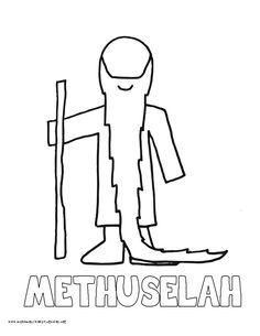 Coloring Pages - Methuselah 1   Preschool bible lessons ...