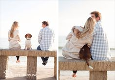 love this idea! engagement photos - #dog    **we want to include our cute Charlie somehow & this is a great way!!!**