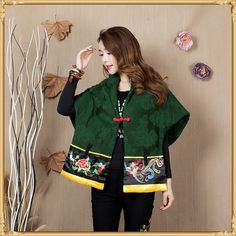 Aliexpress.com : Buy Chinese Style Women Vest Jackets Spring Cotton Pink Green Batwing Sleeve Loose Casual Cloak Button Shawls Tang Suit Jackets Coat from Reliable jacket pearl suppliers on Chinese Culture Village | Alibaba Group