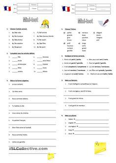 Mini-tests de grammaire