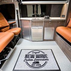 "Traditional ""Lux"" Conversions - New Wave Custom Conversions Vw T5 Interior, Campervan Interior, General Motors, Land Rover Defender, Vw Camper Conversions, Camper Furniture, Nooks, Motorhome, Solar Power"