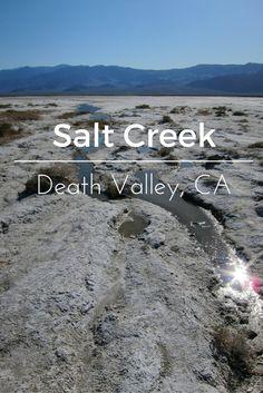 Salt Creek in Death Valley National Park #Travel #California #DesertUSA