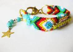 Beachcombing in Plage de Pompierre - Rhinestone Braided Friendship Bracelet by Savi