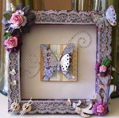 Beauiful altered picture frame