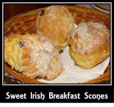 Add a little Irish to your breakfast! Sweet Irish Breakfast Scones #Recipe