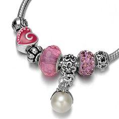 Onnea® Lucky Beads Pink Rhinestone Epoxy Dainty Charms Bracelets with Pearl Pendant Fits Pandora Onnea http://www.amazon.com/dp/B011WUEJZS/ref=cm_sw_r_pi_dp_jRnbxb176CZ2M