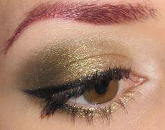 Glitter is my crack...: Golden Olive Eye Makeup Look