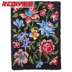 Knitting Latch Hook Kit Rug Set Of Crochet Hooks Diy Craft Cross Sch Carpets And Rugs Needles