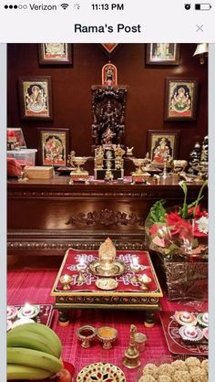 Pooja room small steps for tiny figurines Indian Room, Indian Home Decor, Pooja Mandir, Pooja Room Door Design, Home Temple, Indian Interiors, Puja Room, Indian Homes, Diwali Decorations