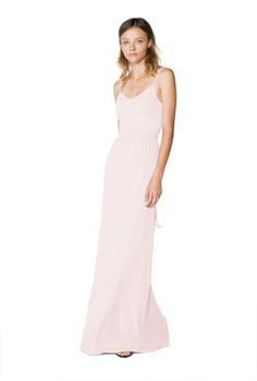 Shop Joanna August Bridesmaid Dress - Stephanie Long in Chiffon at Weddington Way. Find the perfect made-to-order bridesmaid dresses for your bridal party in your favorite color, style and fabric at Weddington Way.