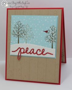 I used the Stampin' Up! Totally Trees stamp set and Christmas Greetings Thinlits Dies to create my card to share today. My card design was inspired by My Favorite Things Wednesday Sketch Chal…