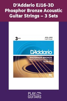 Pursue your passion with D'Addario's most popular acoustic guitar string set, the Phosphor Bronze Acoustic Guitar Strings! These are precision wound onto a carefully drawn, hexagonally-shaped high carbon steel core. The result is long-lasting, bright sounding tone with excellent intonation. #guitarstrings Guitar Tips, Guitar Lessons, Types Of Guitar, Acoustic Guitar Strings, Classical Guitar, Playing Guitar, Guitars, Singing, Core