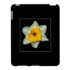 DAFFODIL CLOSE-UP iPAD CASE, by The Flying Pig Gallery on Zazzle (lizadeyphoto) - A bright close-up of of a daffodil makes this an elegant case that brings spring into your life any time of the year.