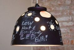 Wes Bennett's Chalkboard Lamp is Made from an Upcycled Pot | Inhabitat - Green Design Will Save the World