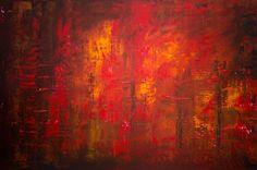 """Derek Kaplan Art """"Forest Fire"""""""