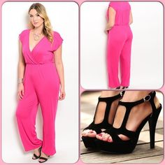 Fuischa Jumpsuit This gorgeous short sleeve jumpsuit features a lightweight woven material. Has a wrapped v-neckline and a flattering gathered waist. 96% Polyester 4% Spandex ❌Shoes n/a❌(This closet does not trade or use PayPal) Delirious Pants Jumpsuits & Rompers