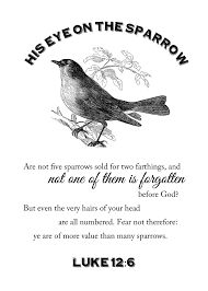 Sympathy, His Eye Is On The Sparrow, Inspirational